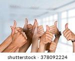thumbs up. | Shutterstock . vector #378092224