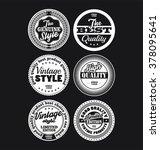 black and white vintage labels... | Shutterstock .eps vector #378095641