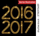 happy new year 2016 and 2017...   Shutterstock .eps vector #378095689