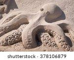 Sand Sculpture Of An Octopus O...