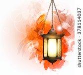 vector illustration ramadan... | Shutterstock .eps vector #378114037