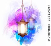 vector illustration ramadan... | Shutterstock .eps vector #378114064