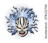 human skull. hand drawing...   Shutterstock .eps vector #378122704