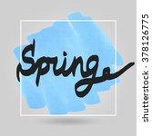 color marker brush frame.... | Shutterstock .eps vector #378126775