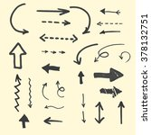 set of hand drawn marker arrows.... | Shutterstock .eps vector #378132751