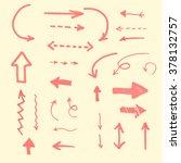 set of hand drawn marker arrows.... | Shutterstock .eps vector #378132757