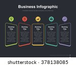 flat business presentation... | Shutterstock .eps vector #378138085