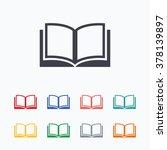 book sign icon. open book... | Shutterstock .eps vector #378139897