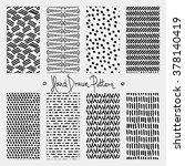 hand drawn seamless ink pattern.... | Shutterstock .eps vector #378140419