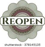 reopen rosette  money style... | Shutterstock .eps vector #378145135