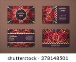vector vintage visiting card... | Shutterstock .eps vector #378148501