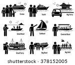water sea transportation... | Shutterstock . vector #378152005