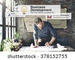 business development growth... | Shutterstock . vector #378152755