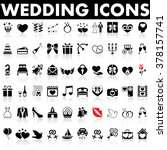 wedding icons | Shutterstock .eps vector #378157741