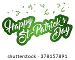 happy st patrick's day... | Shutterstock .eps vector #378157891