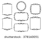 set calligraphic frames ... | Shutterstock .eps vector #378160051