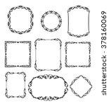 set calligraphic frames ... | Shutterstock .eps vector #378160069