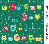 happy birthday card design.... | Shutterstock .eps vector #378168604