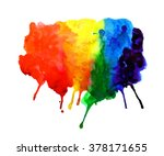 abstract watercolor rainbow... | Shutterstock . vector #378171655