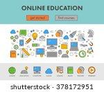 linear design concept web... | Shutterstock .eps vector #378172951