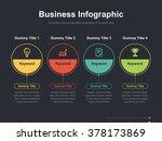 flat business presentation... | Shutterstock .eps vector #378173869