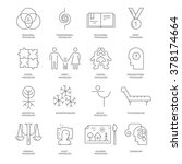 modern line icons with... | Shutterstock .eps vector #378174664