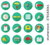 set of construction icons in...