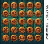 set buttons on shamans...   Shutterstock .eps vector #378191437
