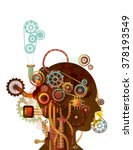 steampunk illustration of the... | Shutterstock .eps vector #378193549