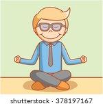 yoga businessman | Shutterstock .eps vector #378197167