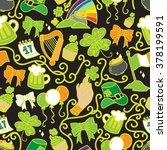 seamless pattern of st. patrick ... | Shutterstock .eps vector #378199591