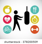 lose weight design  | Shutterstock .eps vector #378200509