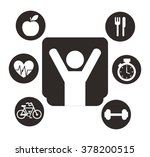 lose weight design  | Shutterstock .eps vector #378200515