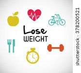 lose weight design  | Shutterstock .eps vector #378200521