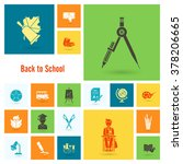 school and education icon set.... | Shutterstock . vector #378206665