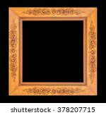 wooden antique frame on black... | Shutterstock . vector #378207715