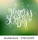 'happy saint patrick's day' on... | Shutterstock .eps vector #378210205