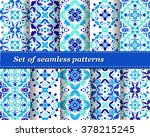 set of mexican stylized... | Shutterstock .eps vector #378215245