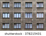 Many Windows In Row On Facade...