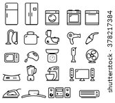 home appliances icon set | Shutterstock .eps vector #378217384