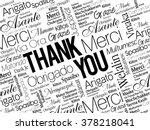 thank you word cloud concept... | Shutterstock .eps vector #378218041