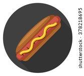 hot dog sandwich icon   Shutterstock .eps vector #378218695