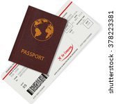 passport and boarding pass...   Shutterstock .eps vector #378223381