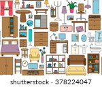 seamless pattern with icons for ... | Shutterstock .eps vector #378224047