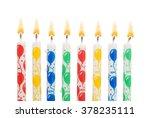 burning birthday candles... | Shutterstock . vector #378235111