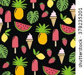 summer fruit pattern | Shutterstock .eps vector #378235201