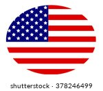 american flag circle button... | Shutterstock .eps vector #378246499