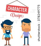 two man vector character design | Shutterstock .eps vector #378249775