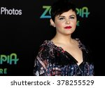 Small photo of Ginnifer Goodwin at the Los Angeles premiere of 'Zootopia' held at the El Capitan Theater in Hollywood, USA on February 17, 2016.