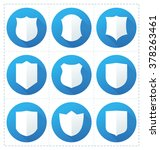collection of shield icon... | Shutterstock .eps vector #378263461